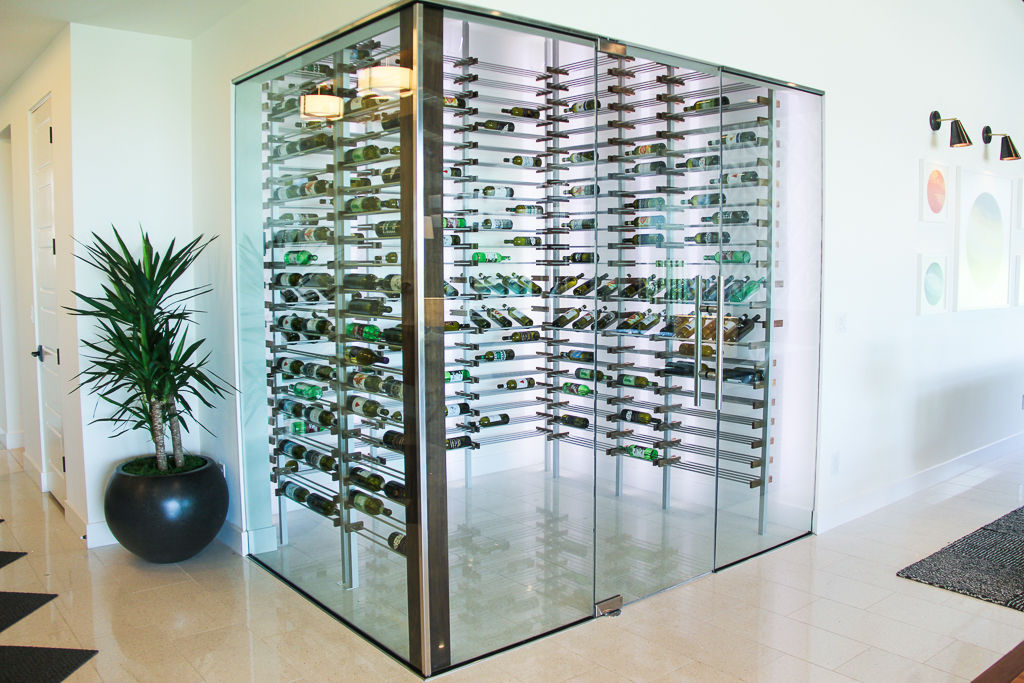 Pardee model wine room