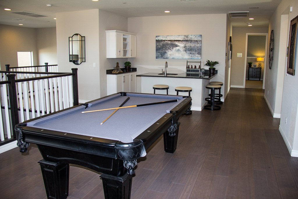 loft and game room with bar