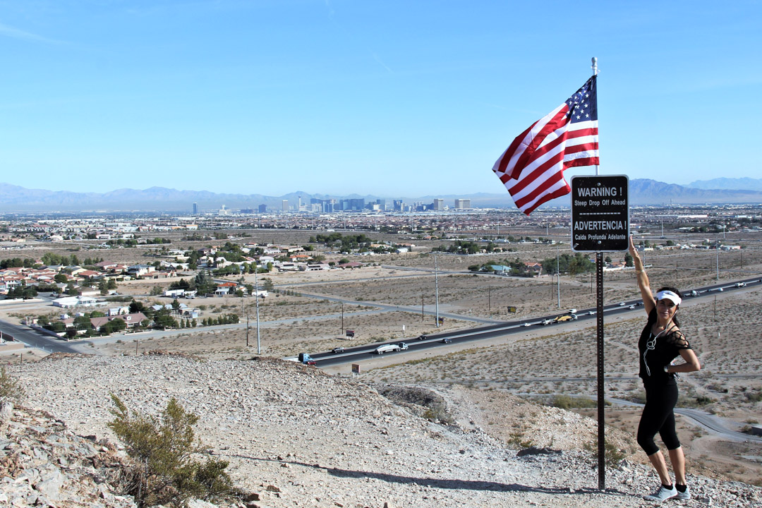 View of Las Vegas from hiking trail