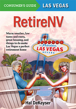 RetireNV cover, Hal DeKeyser's book on retiring in Las Vegas